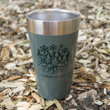 Load image into Gallery viewer, Outdoor Project + Stanley Insulated Pint - Green w/ Seasons Motif