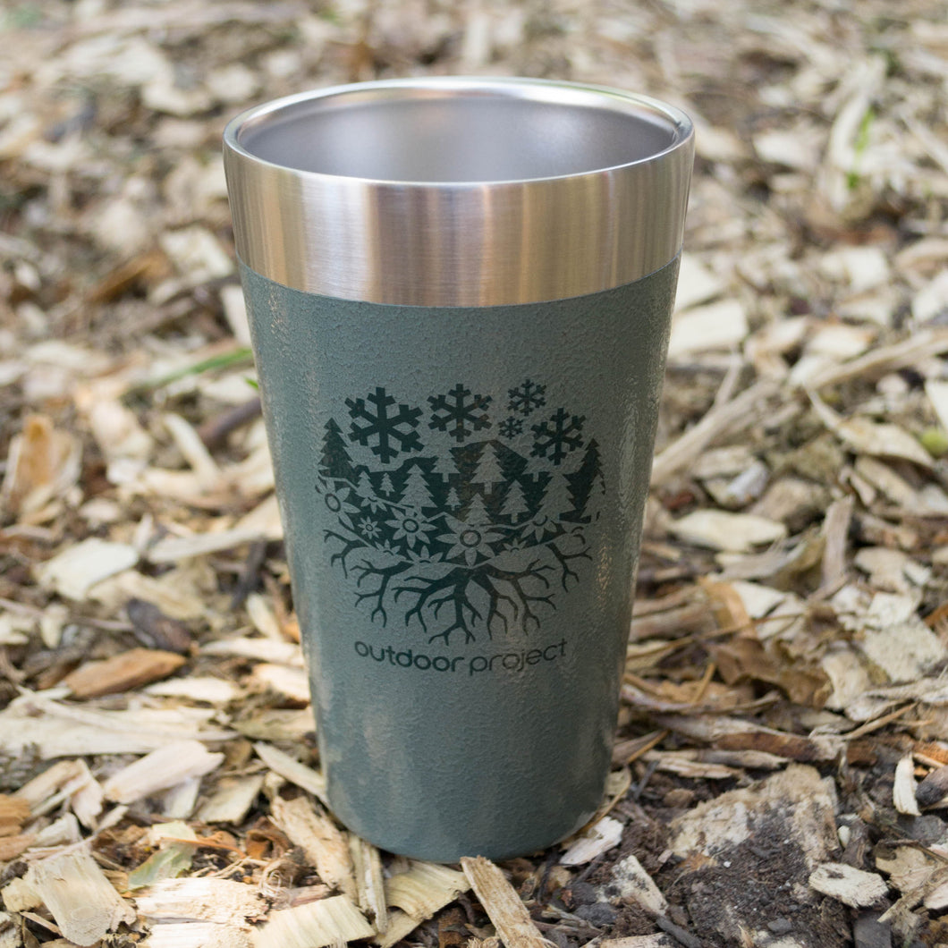 Outdoor Project + Stanley Insulated Pint - Green w/ Seasons Motif
