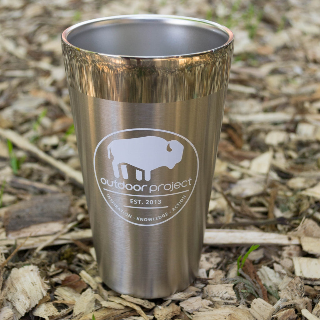 Outdoor Project + Stanley Insulated Pint - Stainless Steel w/ Bison
