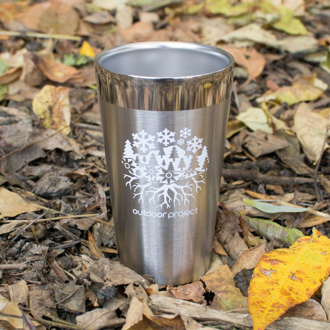 Outdoor Project + Stanley Insulated Pint - Stainless Steel w/ Seasons Motif