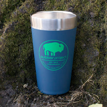 Load image into Gallery viewer, Outdoor Project + Stanley Insulated Pint - Blue w/ Bison
