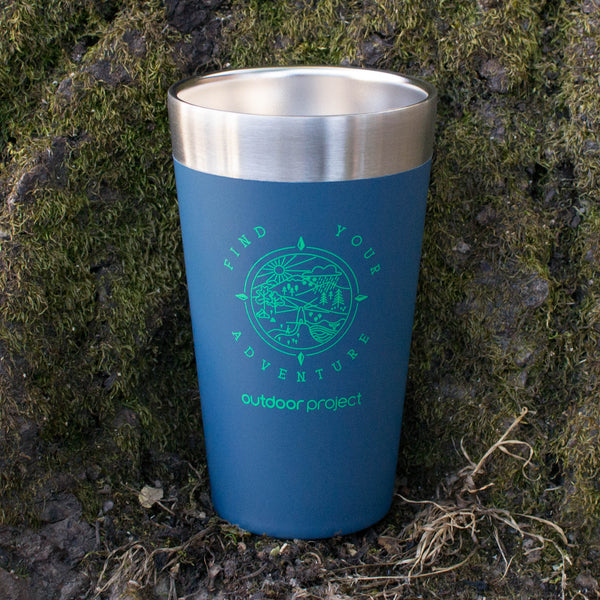 Outdoor Project + Stanley Insulated Pint - Blue w/ Find Your Adventure