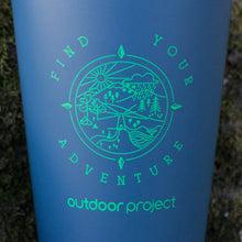 Load image into Gallery viewer, Outdoor Project + Stanley Insulated Pint - Blue w/ Find Your Adventure