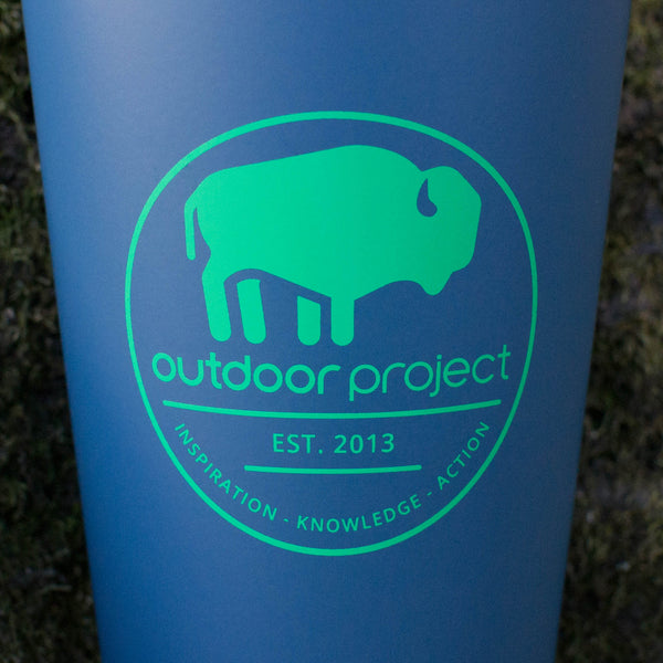 Outdoor Project + Stanley Insulated Pint - Blue w/ Bison
