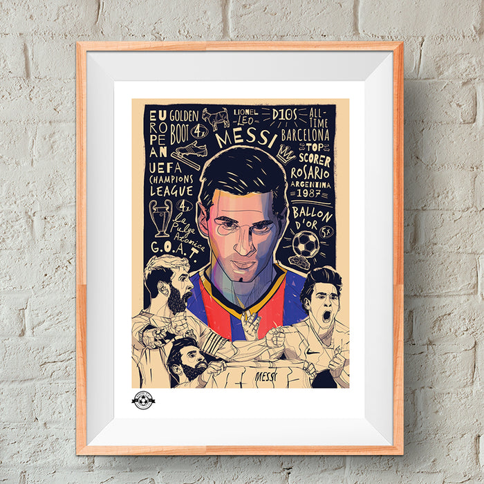 Messi Tribute Giclee Print - Limited Edition
