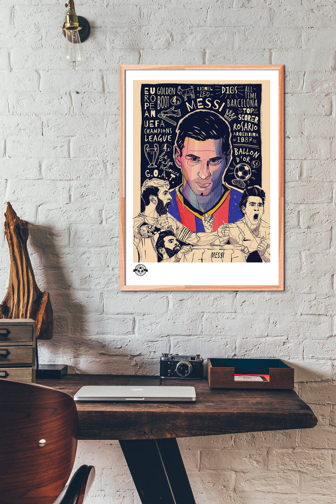 Limited Edition Leo Messi fine art giclee poster.