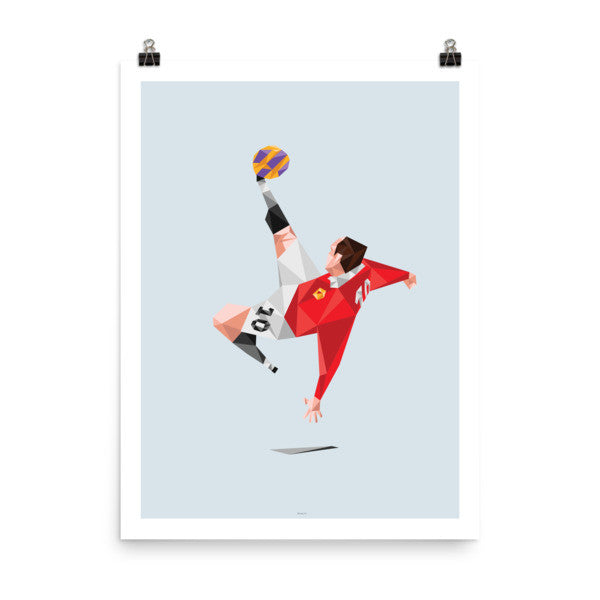 "18""x24"" Wayne Rooney Manchester United Bicycle Kick - Player Poster"