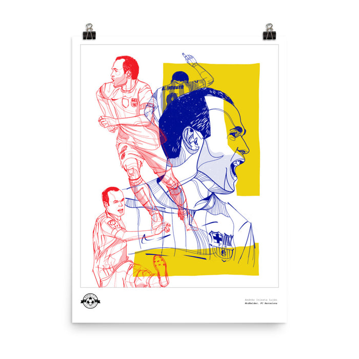 "18""x24"" Andres Iniesta Barcelona Poster"