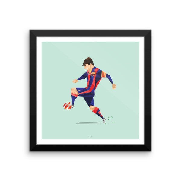 "12""x12"" Framed Leo Messi Barcelona Poster"