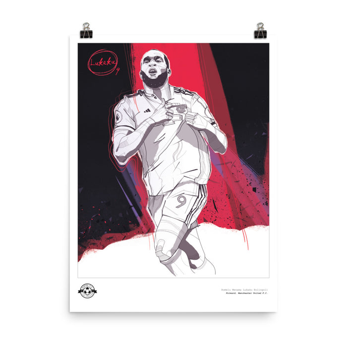 "18""X24"" ROMELU LUKAKU ILLUSTRATION POSTER"