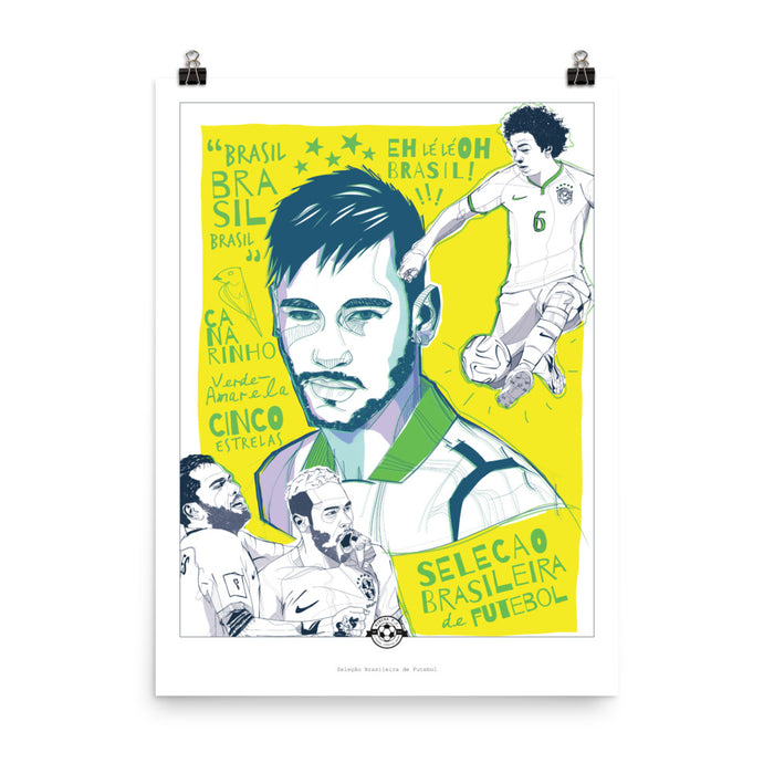 "18""x24"" Brazil World Cup Poster"