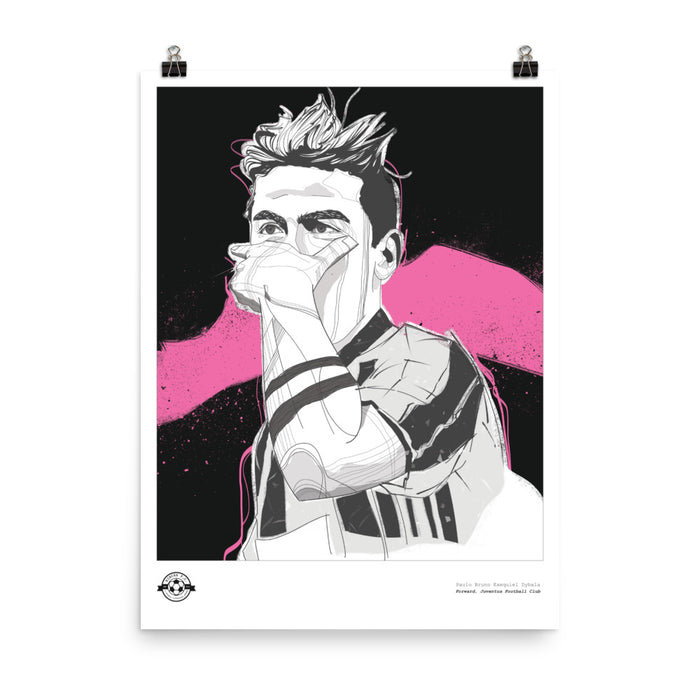 "18""X24"" PAULO DYBALA ILLUSTRATION POSTER"