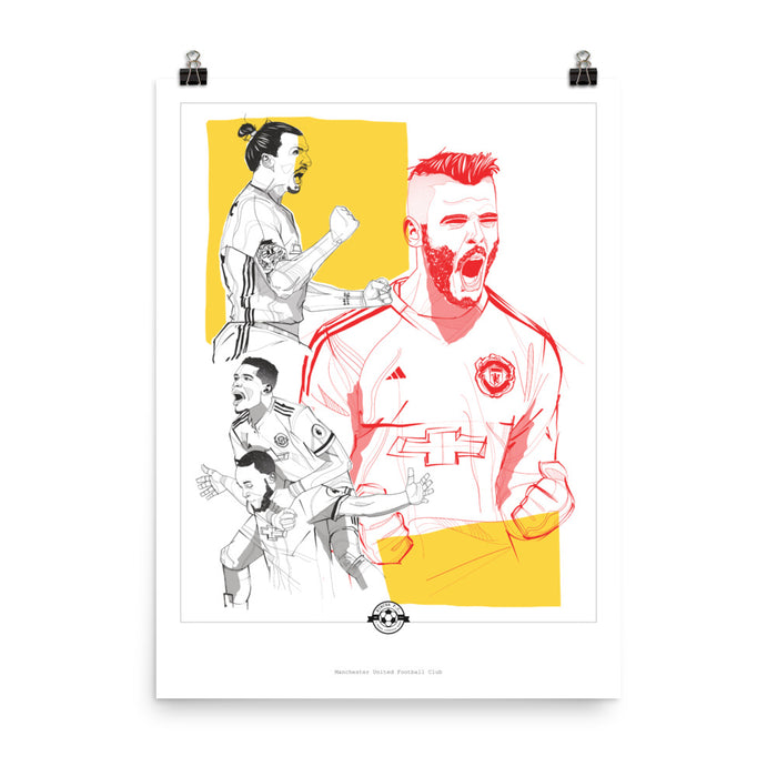 "18""X24"" Manchester United F.C. PLAYERS 2017/18"