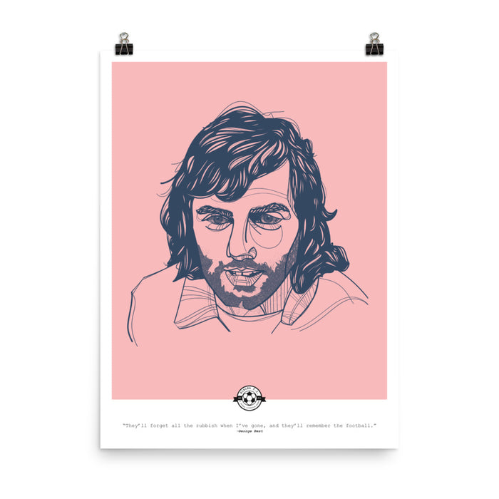 George Best Quote Poster
