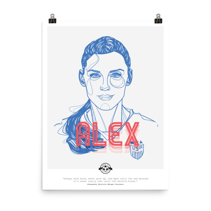 Alex Morgan Quote Poster
