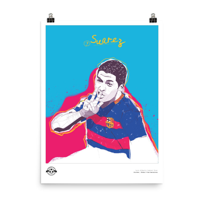 "18""X24"" LUIS SUAREZ ILLUSTRATION POSTER"