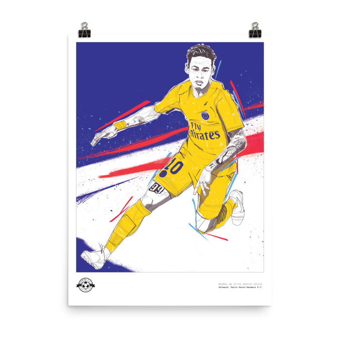 "18""X24"" NEYMAR ILLUSTRATION POSTER"