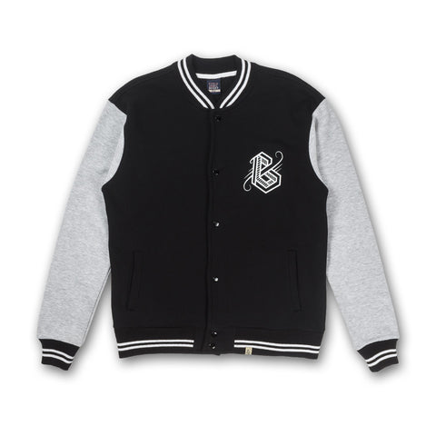 Varsity Jacket in Black