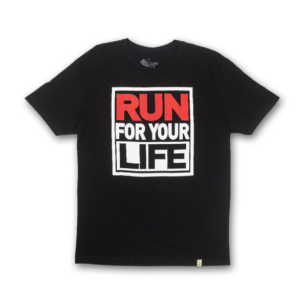 Run For Your Life Tee in Black