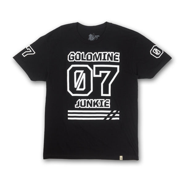 Goldmine Junkie Tee in Black