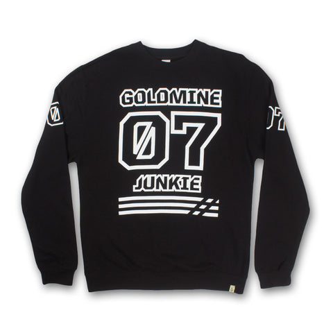 Goldmine Junkie Crewneck in Black