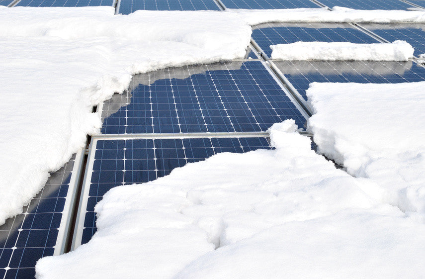 SNOW ON SOLAR PANELS