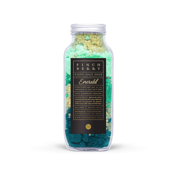 Emerald Fizzy Salt Soak - QTY 6