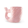 Pink Mermaid Tail Ceramic Mug (4 mugs)
