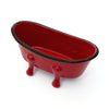 Farmhouse Red Enameled Metal Bathtub Soap Dish (set of 6 dishes)