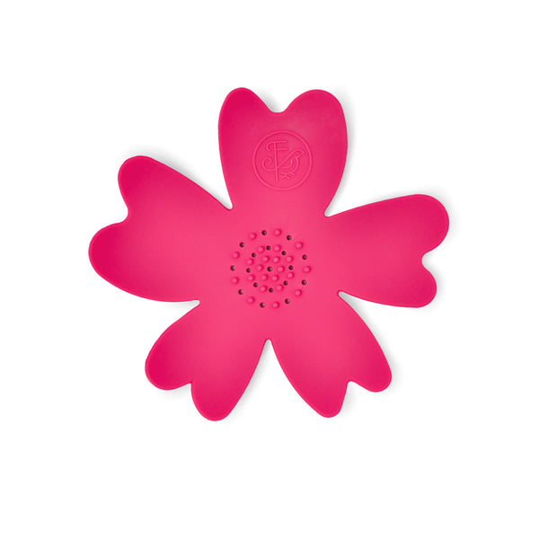 NEW - Dark Pink Silicone Flower Soap Dish (set of 6 dishes)