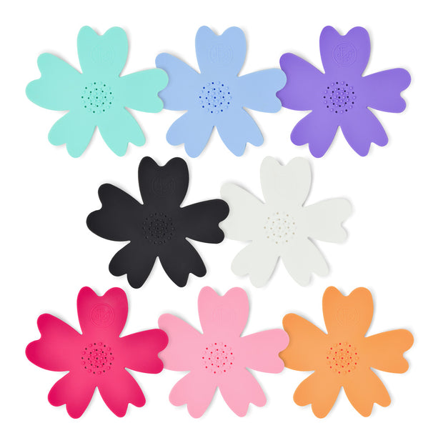 NEW - MIXED COLOR Silicone Flower Soap Dishes (set of 16 dishes) 1