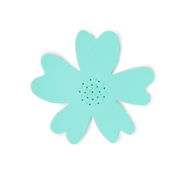 NEW - Aqua Silicone Flower Soap Dish (set of 6 dishes)