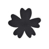 NEW - Black Silicone Flower Soap Dish (set of 6 dishes)