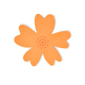 NEW - Orange Silicone Flower Soap Dish (set of 6 dishes)