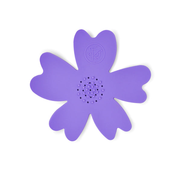 NEW - Purple Silicone Flower Soap Dish (set of 6 dishes)