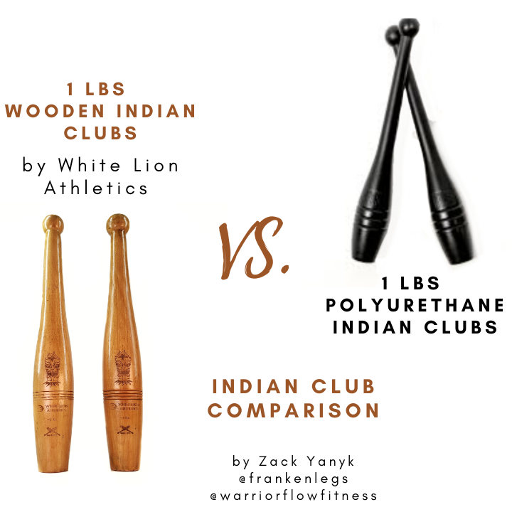 1lbs Wooden Indian Clubs vs. 1lbs Polyurethane Clubs: Which Indian Clubs are best?