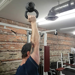 Bottoms-Up Overhead Press (standing)