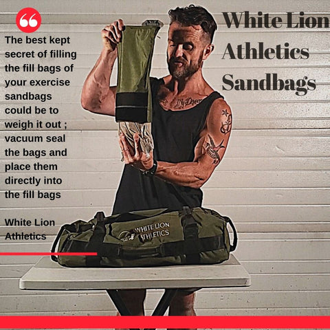 How to fill your exercise sandbags