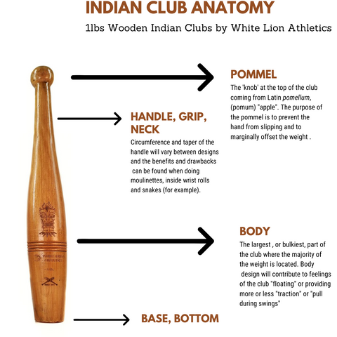 1lbs Indian Clubs Canada. White Lion Athletics