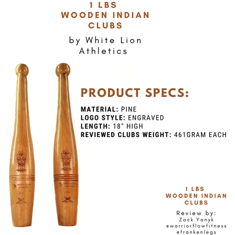Indian Clubs Canada Product Specs