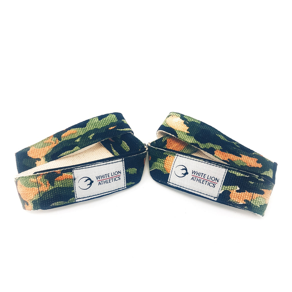 Weightlifting Straps | Heavy Duty Cotton (Camo) - White Lion Athletics