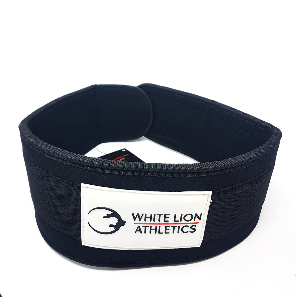 "Weightlifting Belt | BLK MAX  5"" Nylon Lifting Belt - White Lion Athletics"