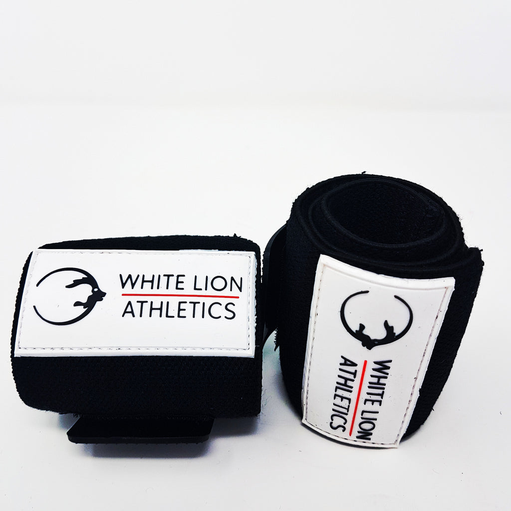 Wrist Wraps| BLACK| Wrist Support for Weightlifting & Crossfit - White Lion Athletics