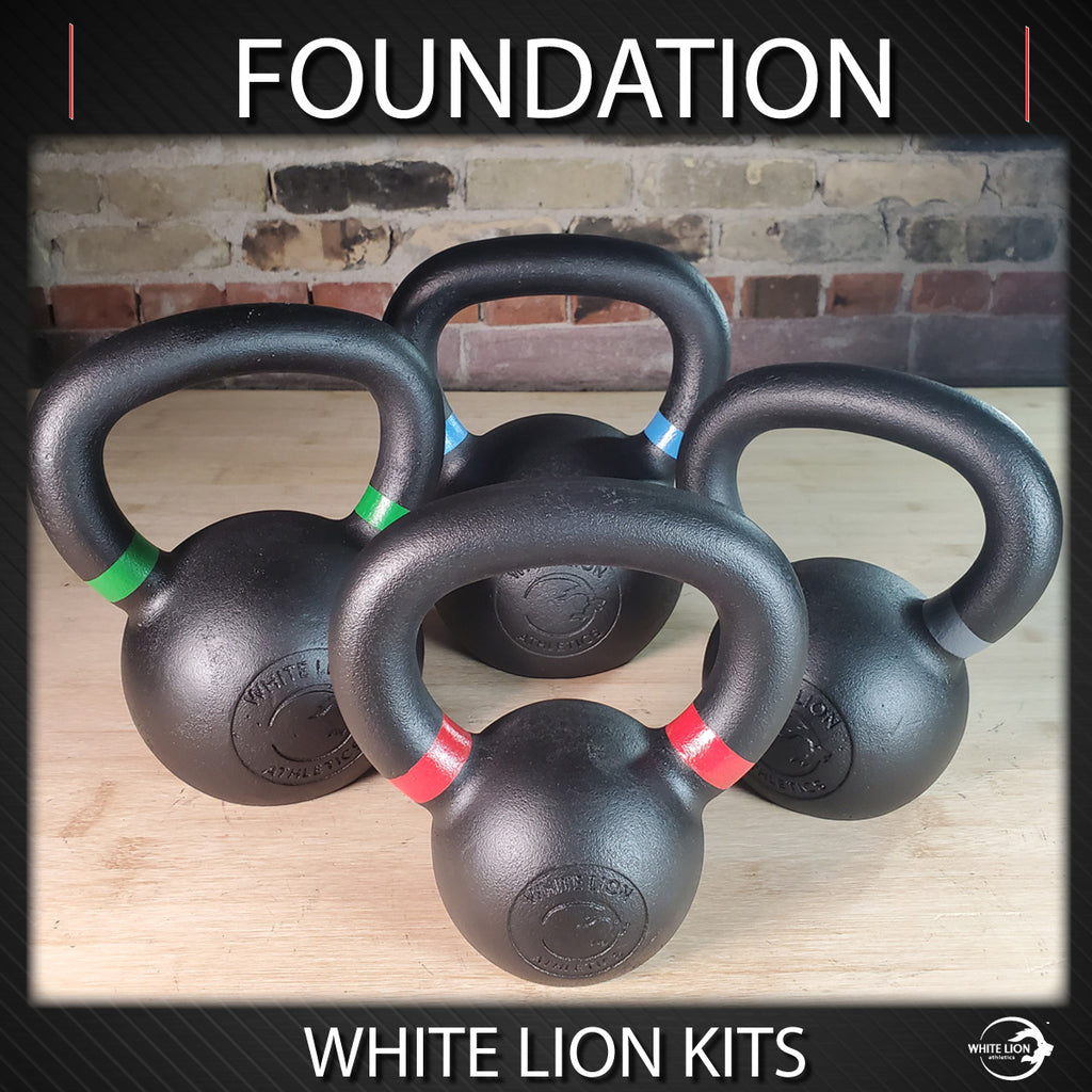 "Kettlebell Package: ""Foundations"" (6kg/8kg/12kg/16kg) (Arriving April 2021)"