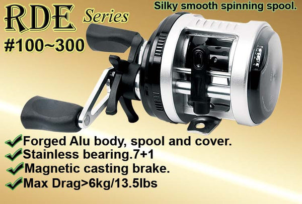 Osprey high speed #30 casting reel with magnetic casting brake.  Free shipment until  25th Dec 2016