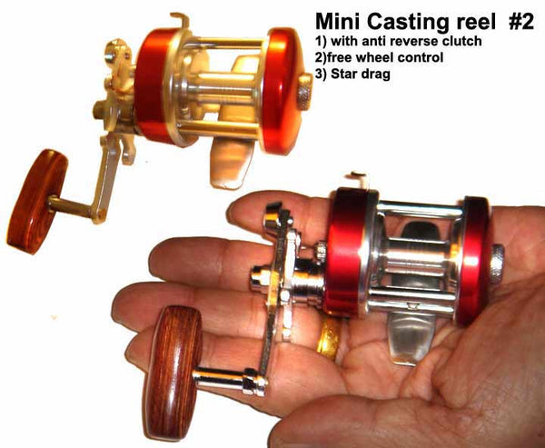 mini casting or baitcasting reel. Alumium body Mini baitcasting reel