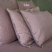 Frayed Edge Linen Pillowcases Pair