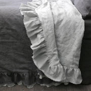 Two Tones Frayed Ruffle Bedspread - linenshed.au - 2