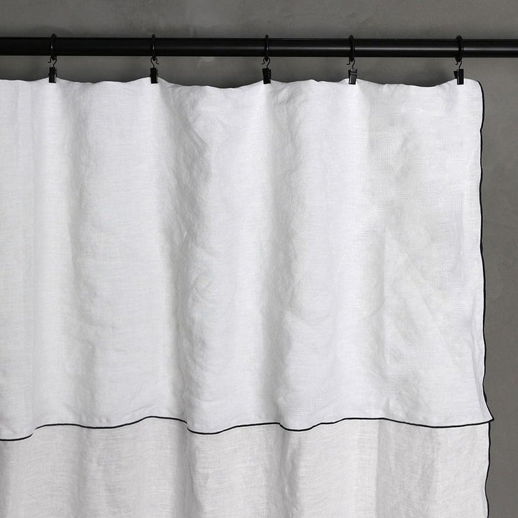 Bourdon Edge Linen Curtains  01 - Linenshed