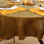 French Linen Bourdon Edge Tablecloth - Linenshed